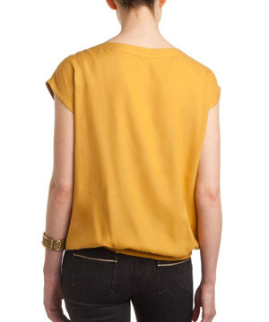 Yellow Top with Bow for Women