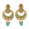 Pearl Copper Gold Plated Chand Bali Earrings