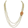 3 Line Real Japanese Pearl Necklace